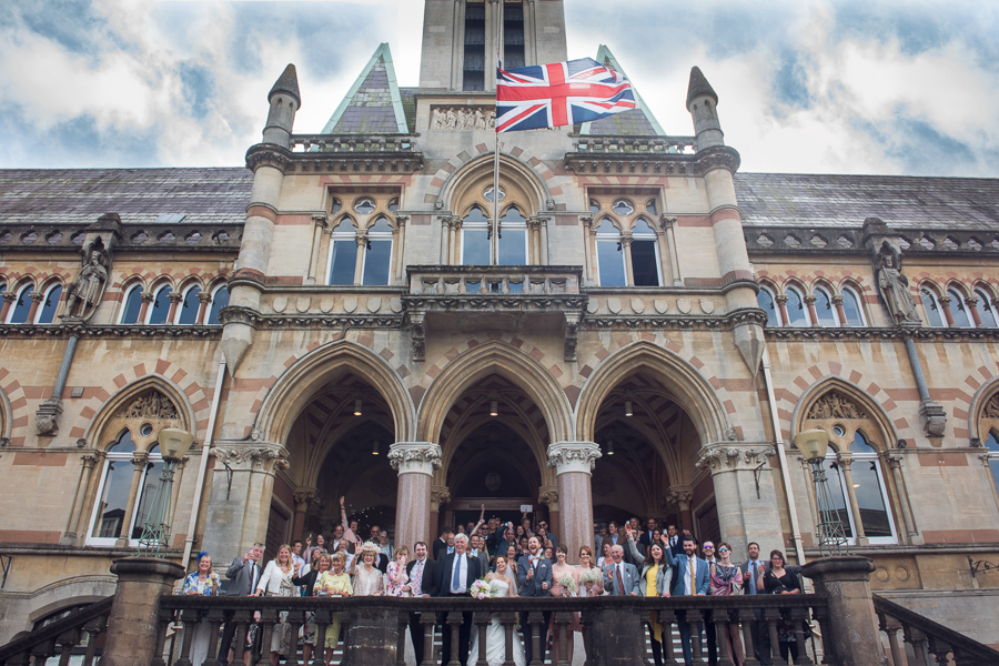 Group shot outside guildhall