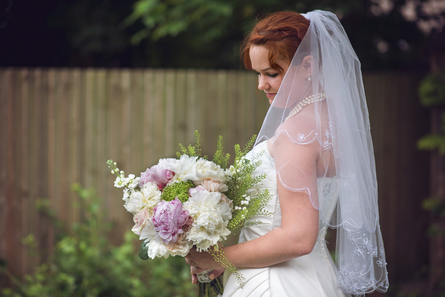Bride with her Wedding bouquet
