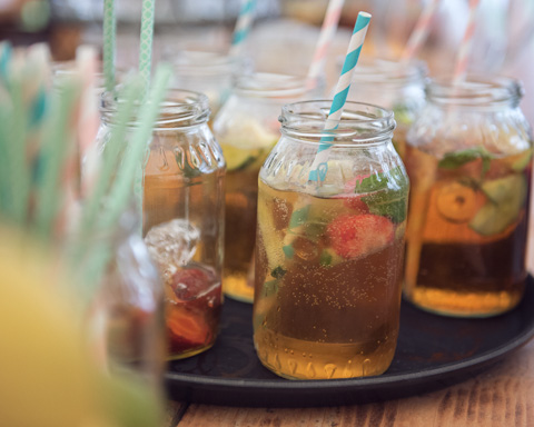 Pimms in jars