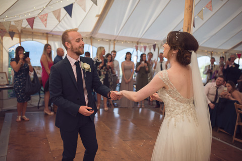 First dance in a marque in st ives
