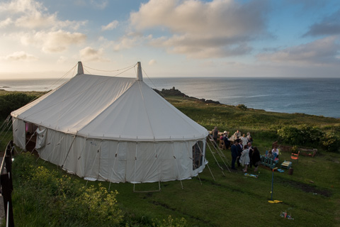 Marque in stives over looking porthmeor beach