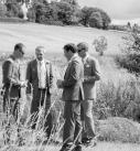 Groomsmen in a field, cornwall