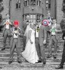 Marvel wedding group shoot