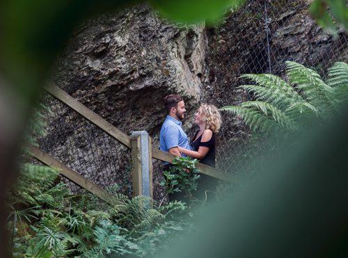 gyllygdune Gardens engagement photoshoot