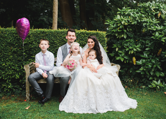 Bride and her family at the penventon hotel