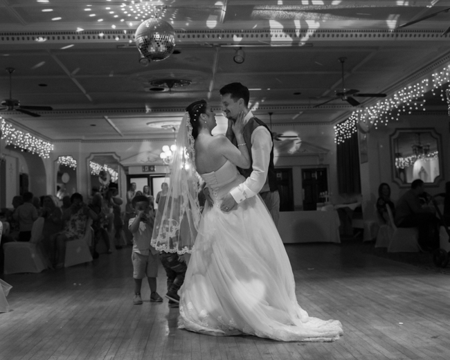 Bride and groom first dance, penventon hotel, redruth, Cornwall