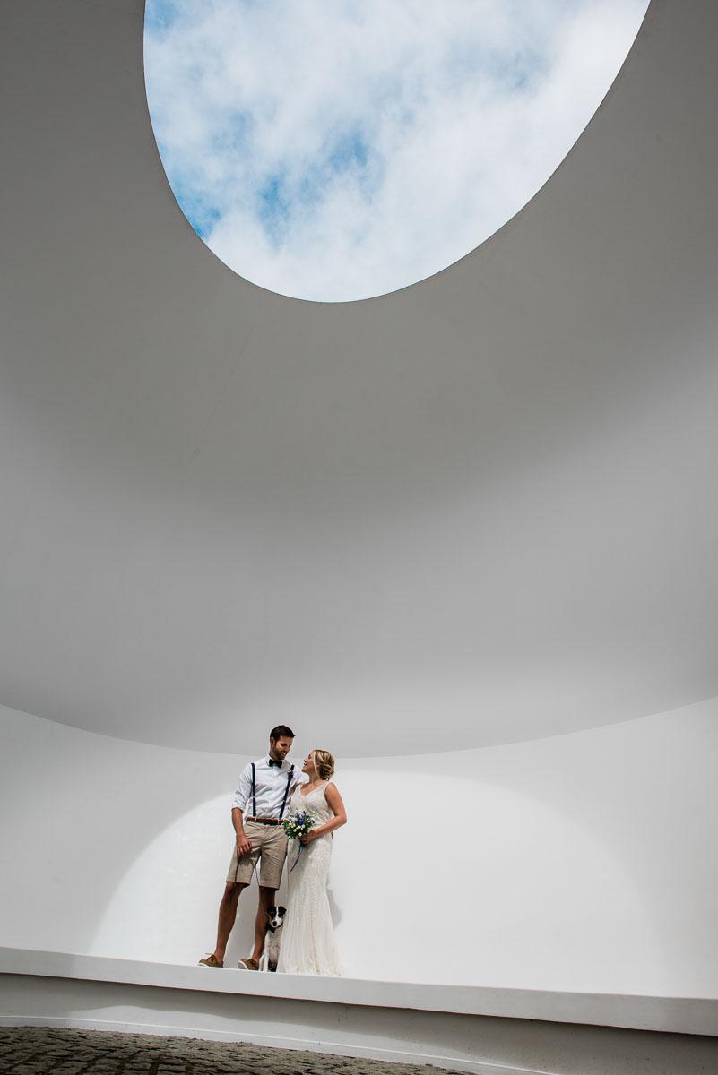 Tremenheere sculpture garden wedding