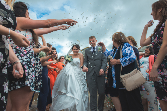 Confetti wedding picture