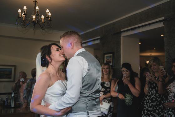 Bride and groom first dance Rosewarne manor