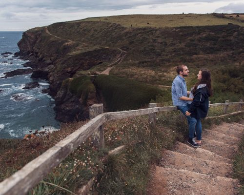 couple stood on top off the lizard, cornwall