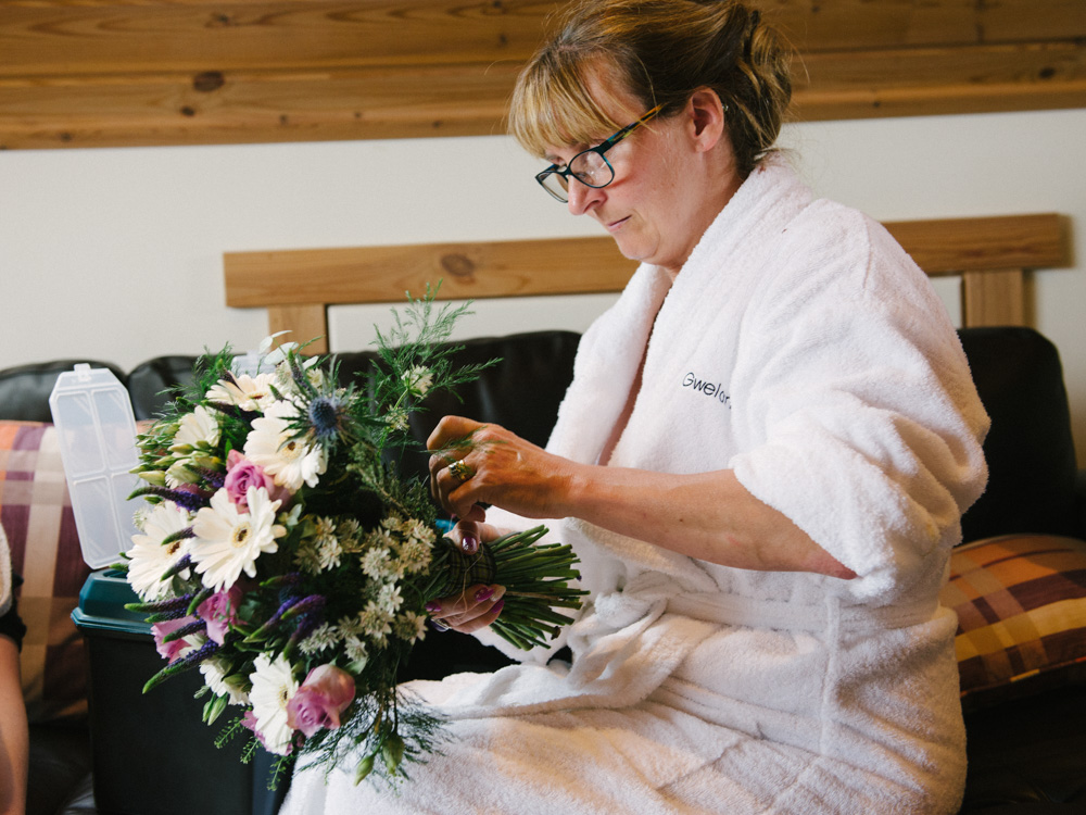 Mother of bride flowers