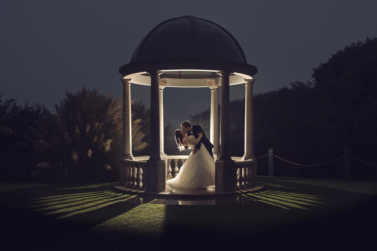 Tregenna castle, st ives night wedding