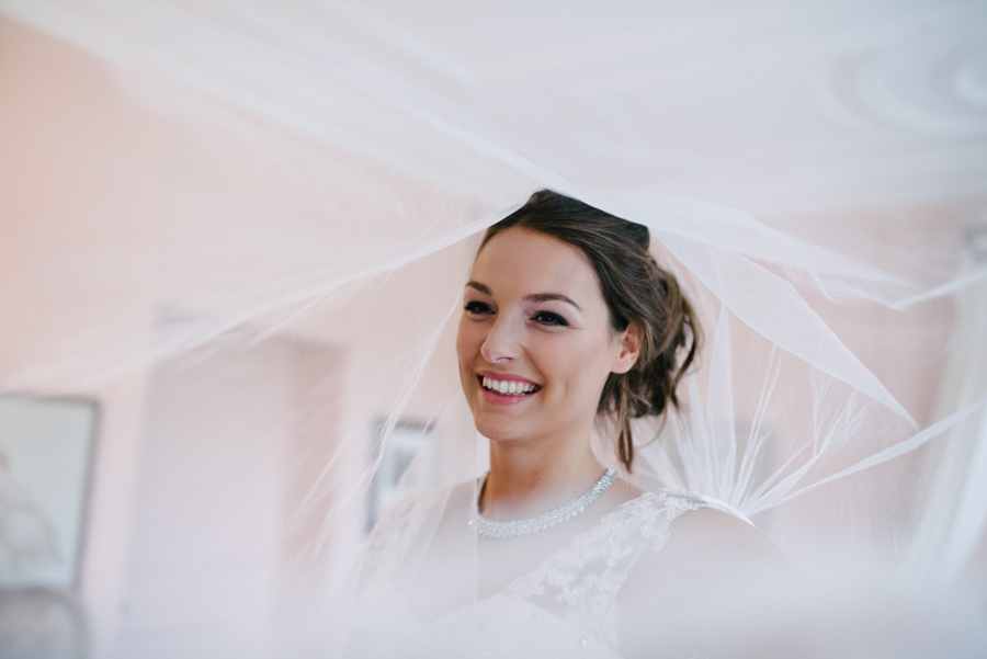 Pastel wedding veil trereife house