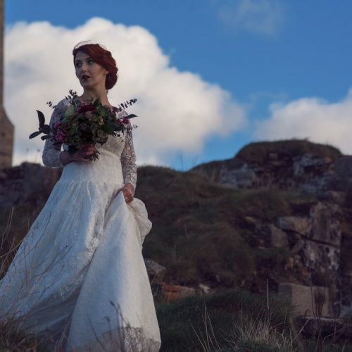 Cornish Coastal wedding meets Poldark