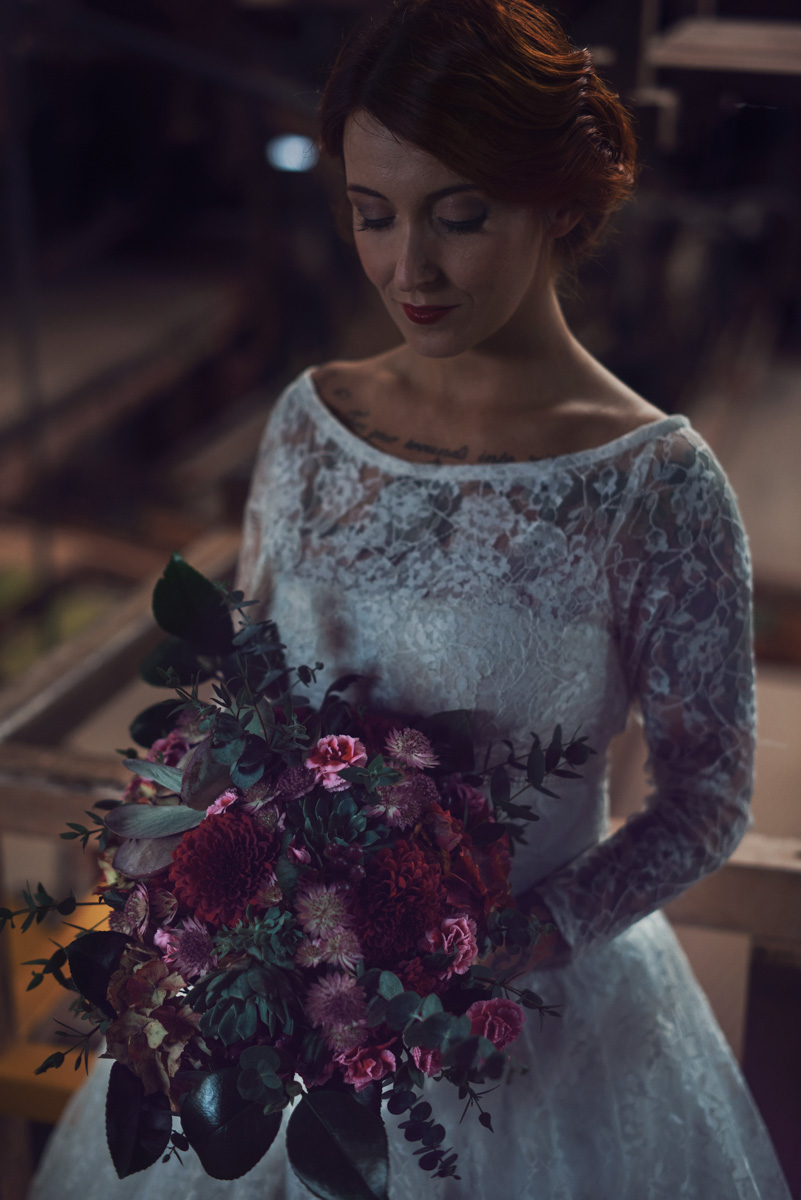 Bride in the mines