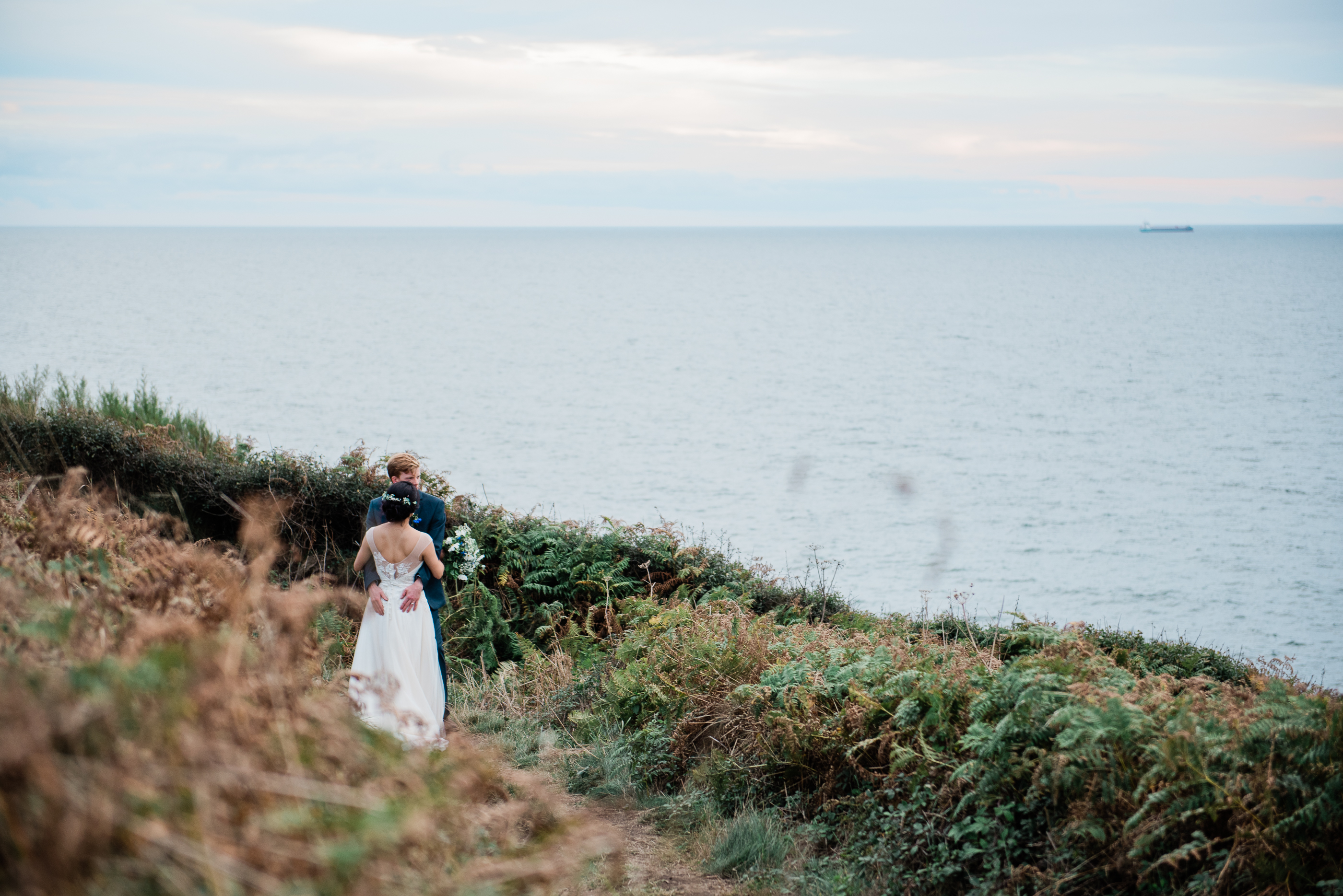 Cornish cliff wedding