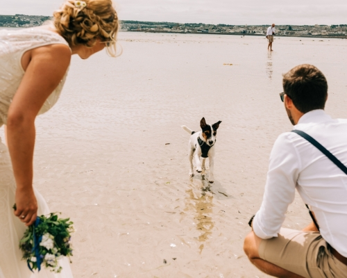 Marazion beach wedding
